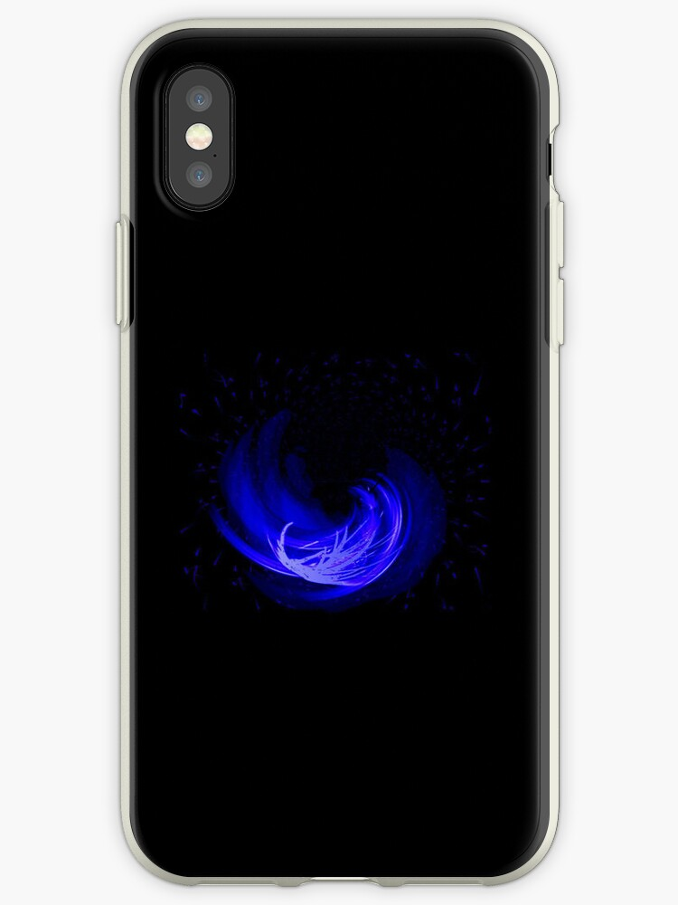 Blue Fire iPhone Case by TheTubbyLife
