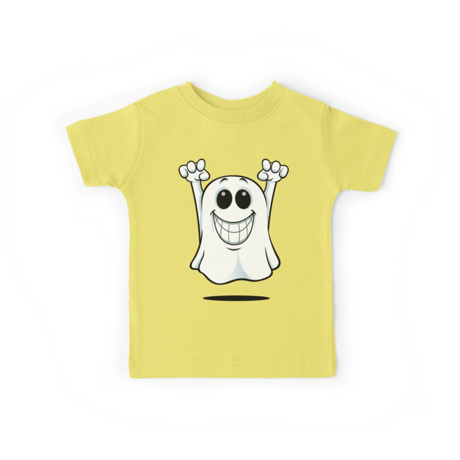 Cartoon Ghost - With A Big Smile. by DesignWolf
