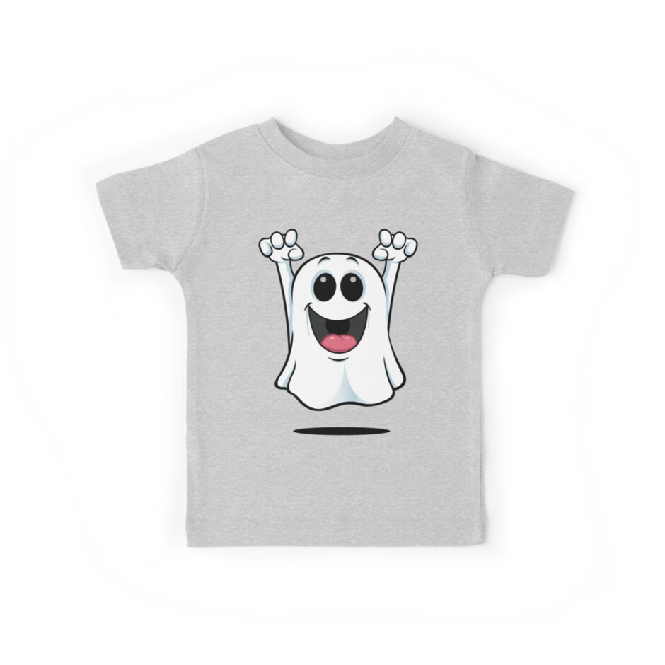 Cartoon Ghost - Happy by DesignWolf