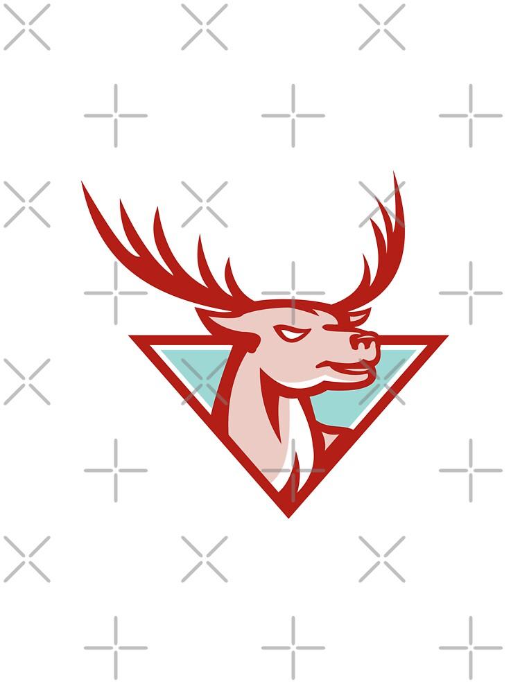 Deer Stag Buck Head Woodcut  by patrimonio