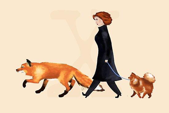 Fox & Dana by atomicblondie