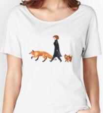 Camiseta ancha para mujer Fox y Dana