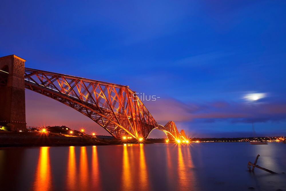 The Forth Rail Bridge crossing between Fife and Edinburgh, Scotland. by -Silus-