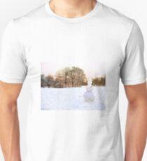 Landscape with Snowman Unisex T-Shirt