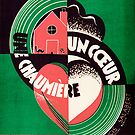 UNE CHAUMIERE UNCOUR   (vintage illustration) by ART INSPIRED BY MUSIC