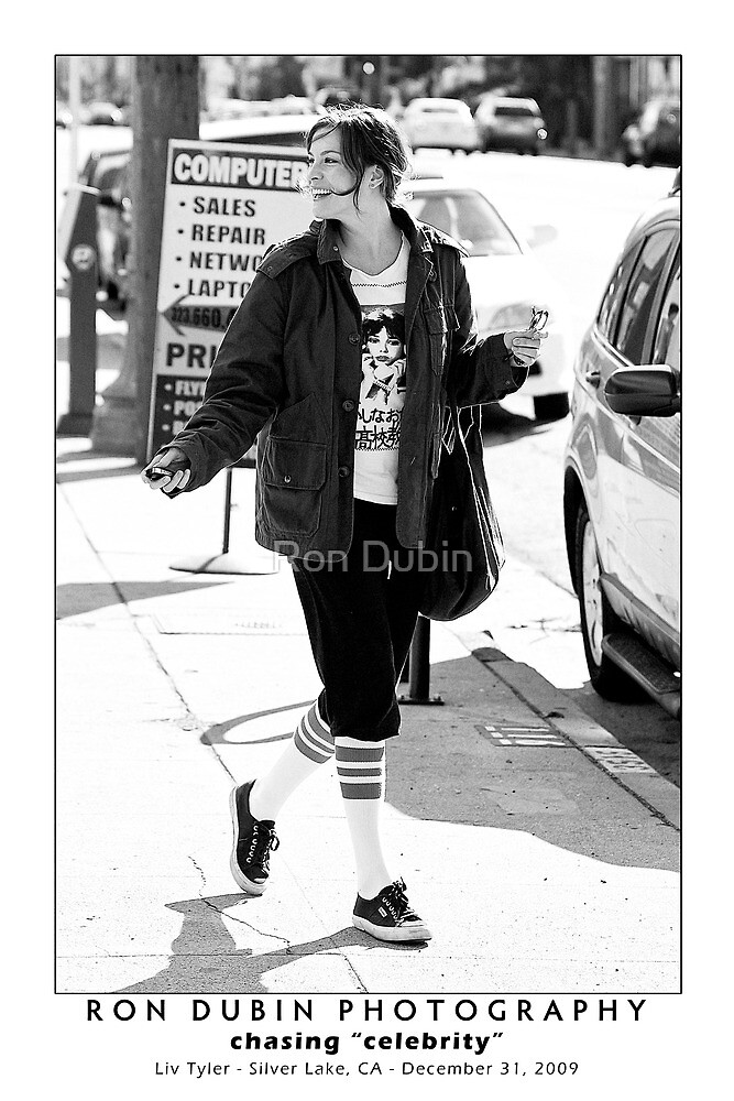 Liv Tyler - Workout Stylin' by Ron Dubin
