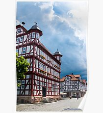 Half-timbered Buildings near Kassel Poster