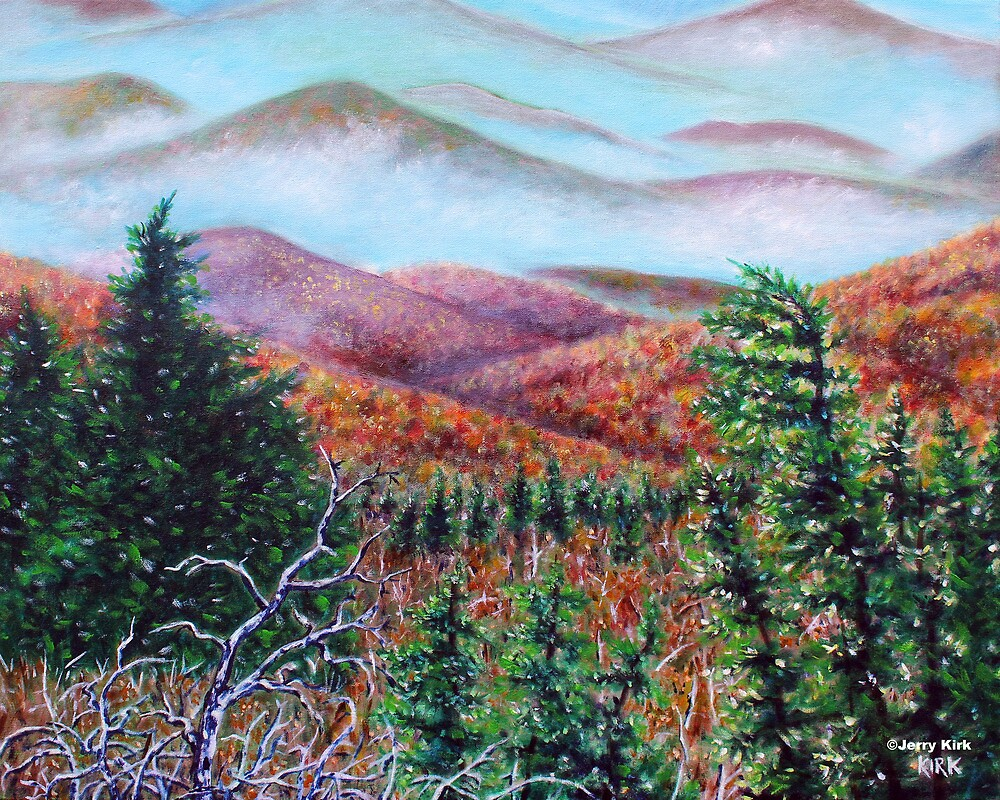 'THE VIEW FROM GRANDFATHER MT.'  by Jerry Kirk