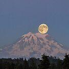 Full Moon over Mount Rainier by Kathy Yates