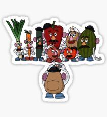 Potato family Sticker