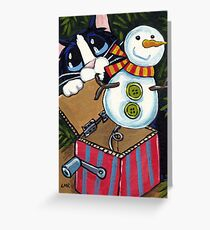 Snowman Surprise Greeting Card