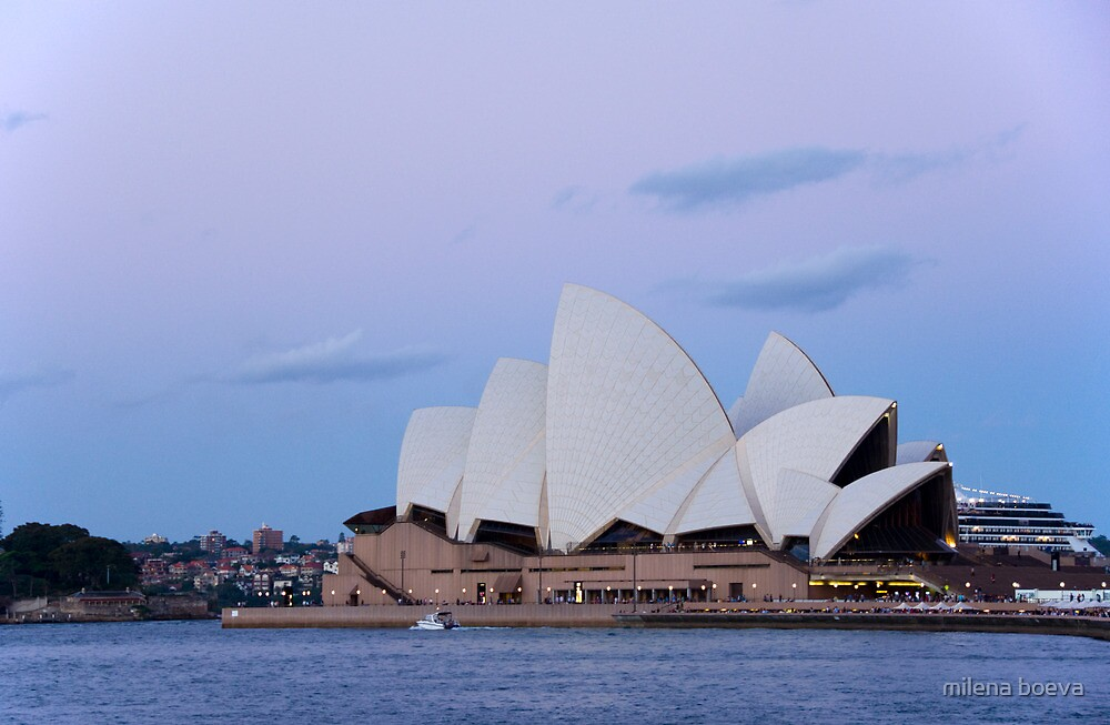 sydney opera house at down by milena boeva