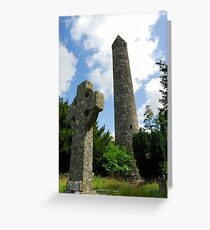 Round Tower, Glendalough Greeting Card