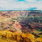 Oil paint of the Grand Canyon/ Digital Art by philw
