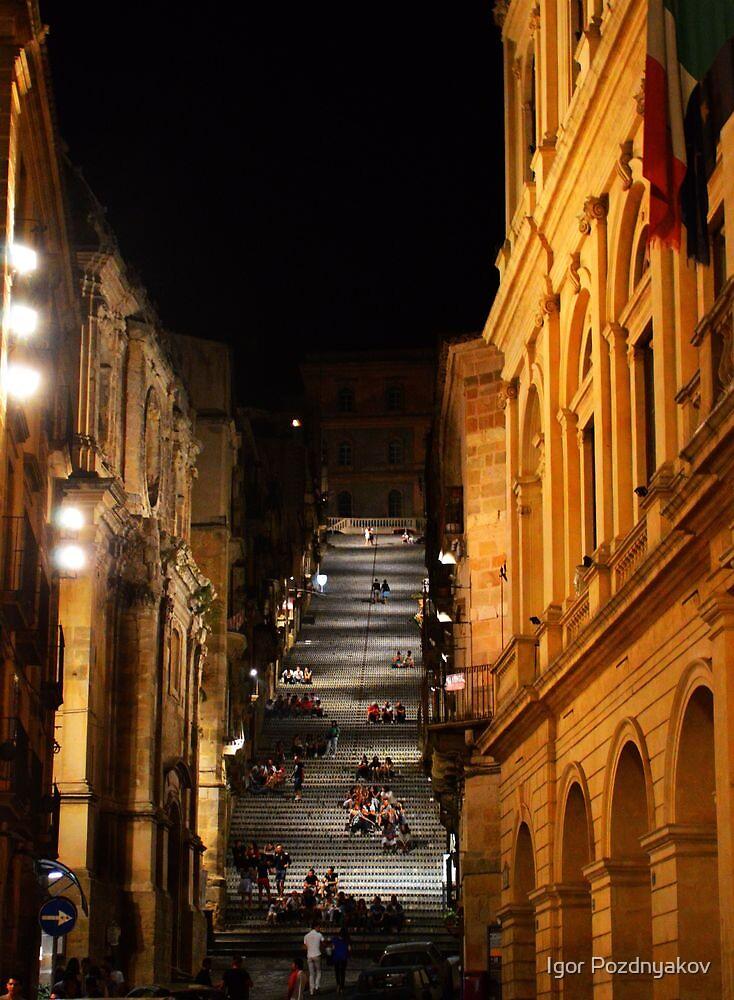 La Scala di S. Maria del Monte, Caltagirone, Sicily by Igor Pozdnyakov