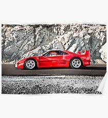 Ferrari F40 | Earth Scraper Poster