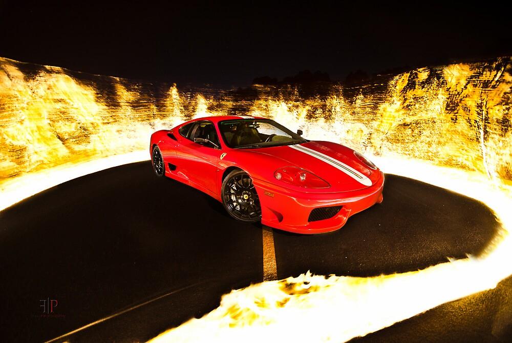 Fiery Ferrari by Gil Folk