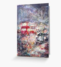 Red Bus and Black Cab - London City Art Gallery Greeting Card