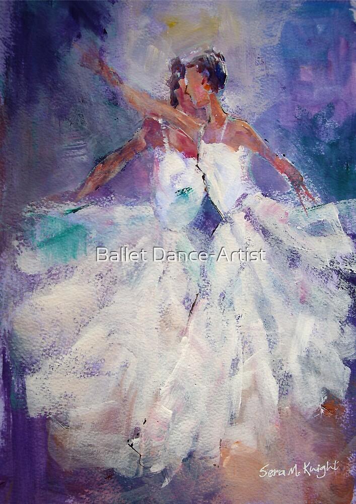 Two Ballerinas - Painting in Ballet & Dance Art Gallery by Ballet Dance-Artist