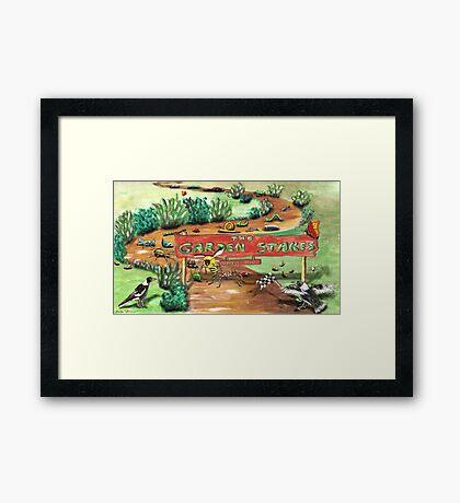 The Garden Stakes Framed Print