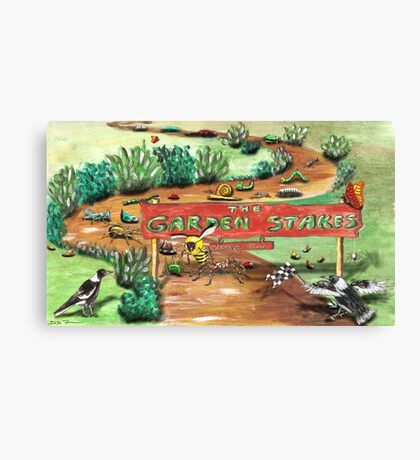 The Garden Stakes Canvas Print