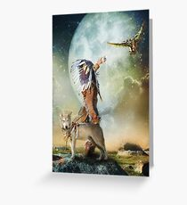 Native american indian greeting cards redbubble the messenger greeting card m4hsunfo