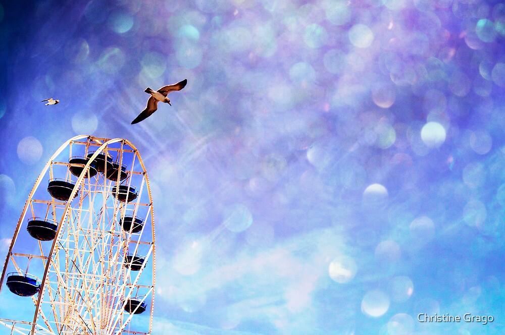 SummerBluesFerrisWheel by Christine Grago