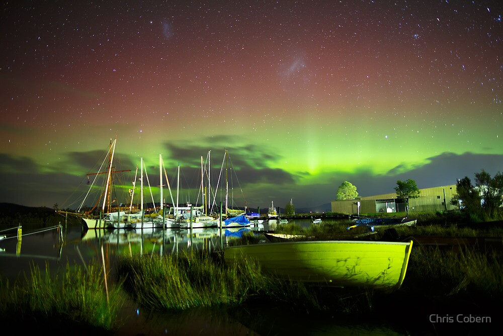 Aurora Australis at Franklin, Tasmania #13 by Chris Cobern