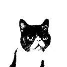 cat contemplating by pheeeeebs