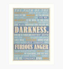 Pulp Fiction: Ezekiel 25:17 Art Print