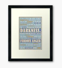 Pulp Fiction: Ezekiel 25:17 Framed Print