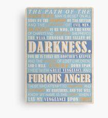 Pulp Fiction: Ezekiel 25:17 Canvas Print