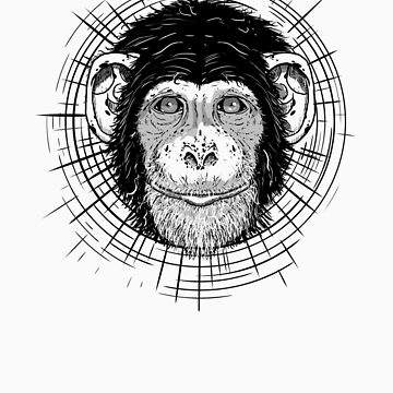 chimpanzee by MARTYHENLEY