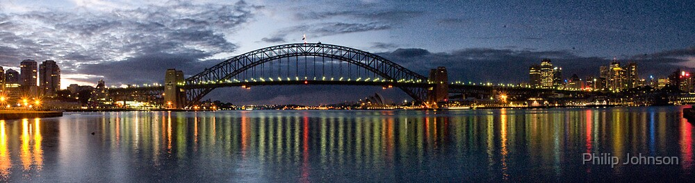Nightime Reflections - Sydney Harbour - The HDR Experience by Philip Johnson