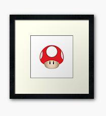 Nintendo Mushroom Framed Print