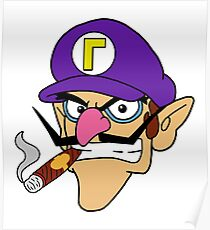 Waluigi Smoking a Cigar Poster
