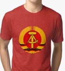 German Democratic Republic Emblem Tri-blend T-Shirt