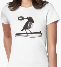 Talking bird knitting needles yarn T-Shirt