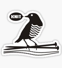 Talking bird knitting needles yarn Sticker