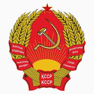 Socialist Kazakhstan Emblem by charlieshim