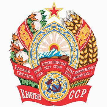 Socialist Kyrgyzstan Emblem by charlieshim
