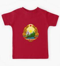 Socialist Romania Emblem Kids Tee