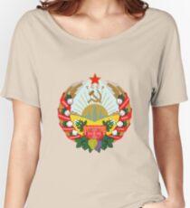 Socialist Turkmenistan Emblem Women's Relaxed Fit T-Shirt