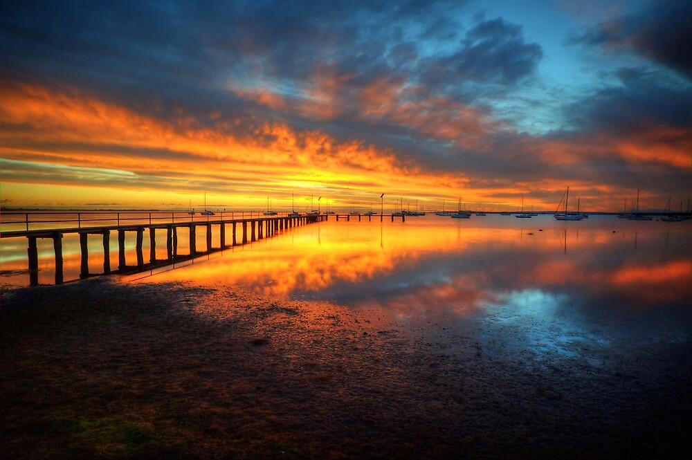 Corio Bay Sunrise HDR by Danielle  Miner