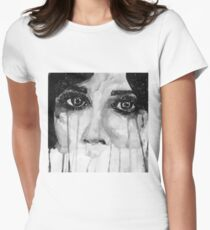Googly Eyes Womens Fitted T-Shirt