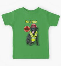 Max A. Pooch-Canine Community Reporter-Environmental Kids Tee