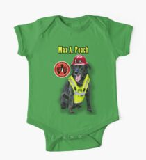 Max A. Pooch-Canine Community Reporter-Environmental One Piece - Short Sleeve