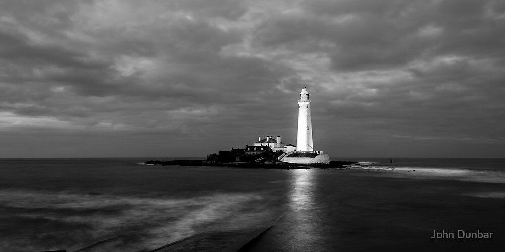 Evening Tide at St Mary Lighthouse by John Dunbar