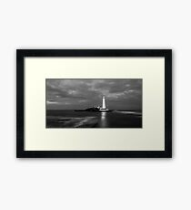 Evening Tide at St Mary Lighthouse Framed Print