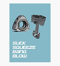 Mazda RX7 Rotary Piston Suck Squeeze Bang Blow Photographic Print